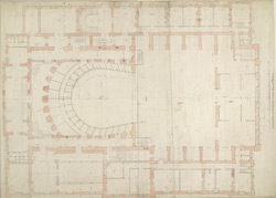 Ground plan of the Theatre Royal, Covent Garden